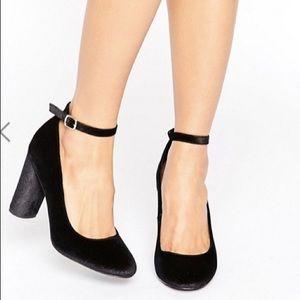 ASOS Black Velvet heels
